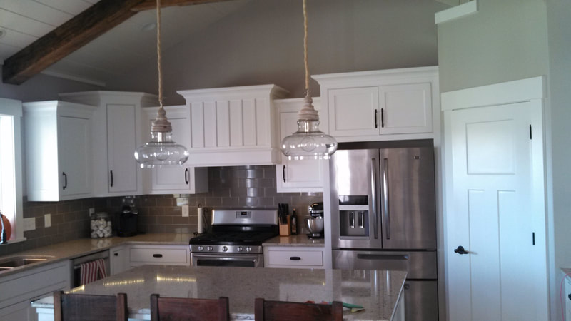 Finished kitchen with recessed lighting