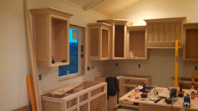 Cabinetry for sink and appliances
